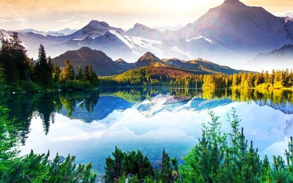 beautiful nature landscape mountains