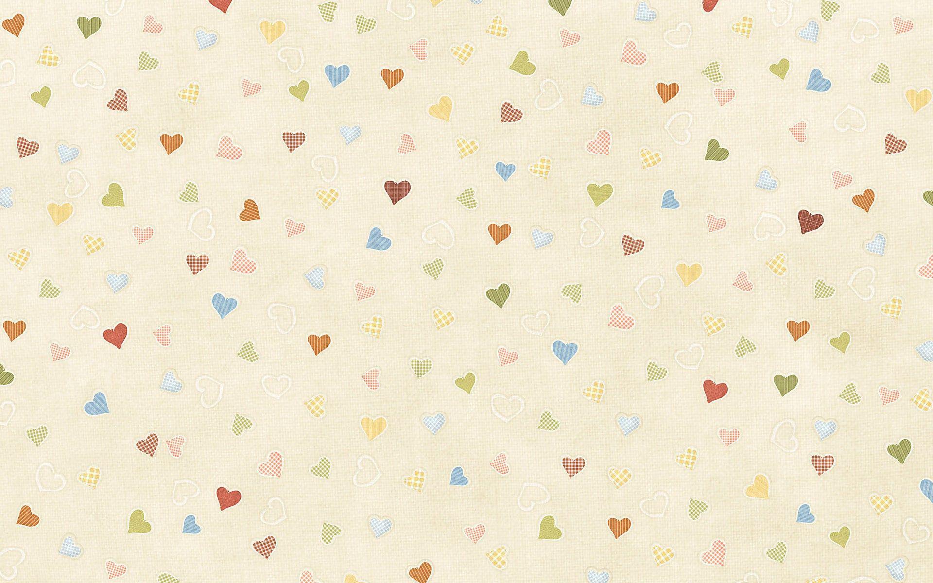 Multicolored Hearts Pattern Wallpaper