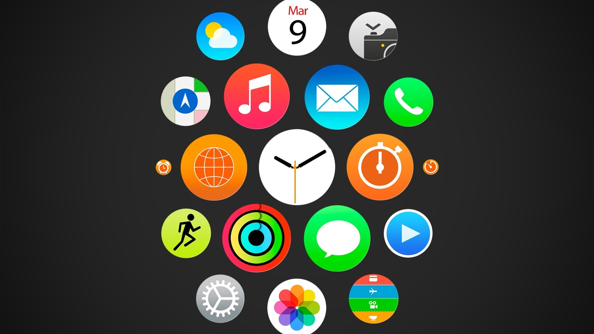 Home Screen Cute Wallpapers For Girls Apple Watch Iwatch Menu Ios Icons Wallpaper Brands And