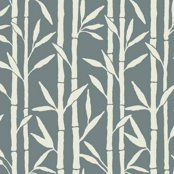 OG0604 l Blue Vertical Bamboo Reed Grove Wallpaper