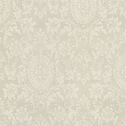 30266887 Ornament Sage Damask Motif Wallpaper