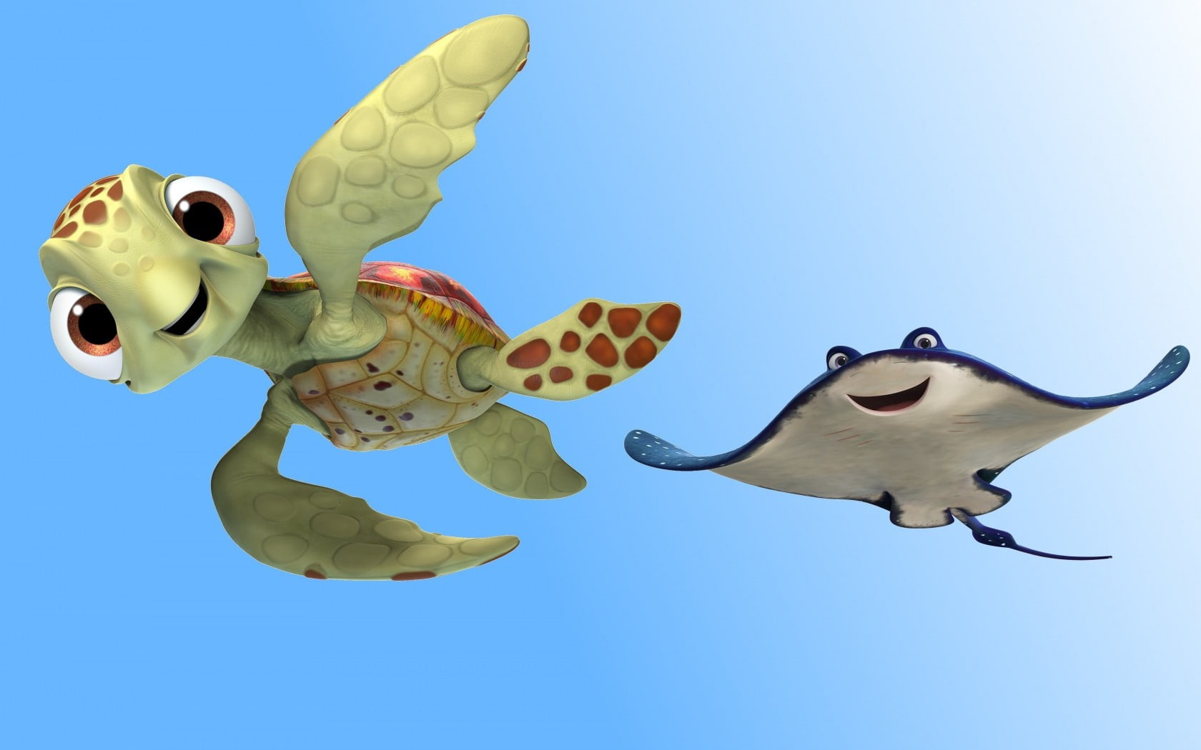 Finding Dory Turtle And Stingray Character Hd Wallpaper Wallpaper Flare