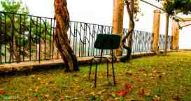 Brown And Black Metal Armless Chair Nature Broken Chair