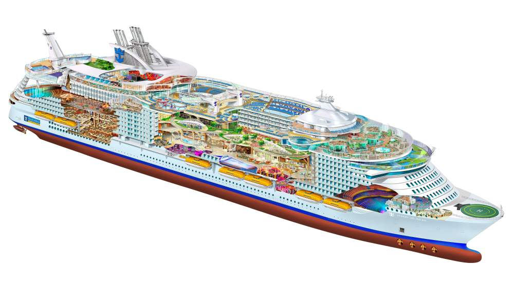 medium resolution of white blue and green train table ship cruise ship schematic