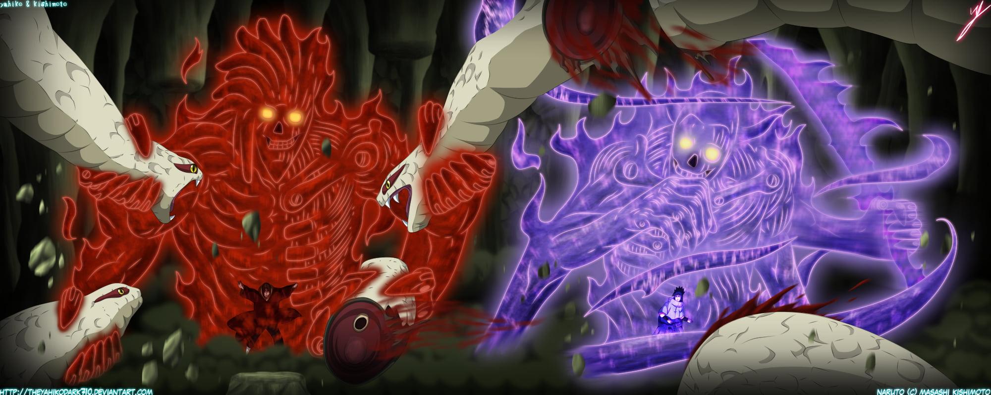 susanoo illustrations anime naruto