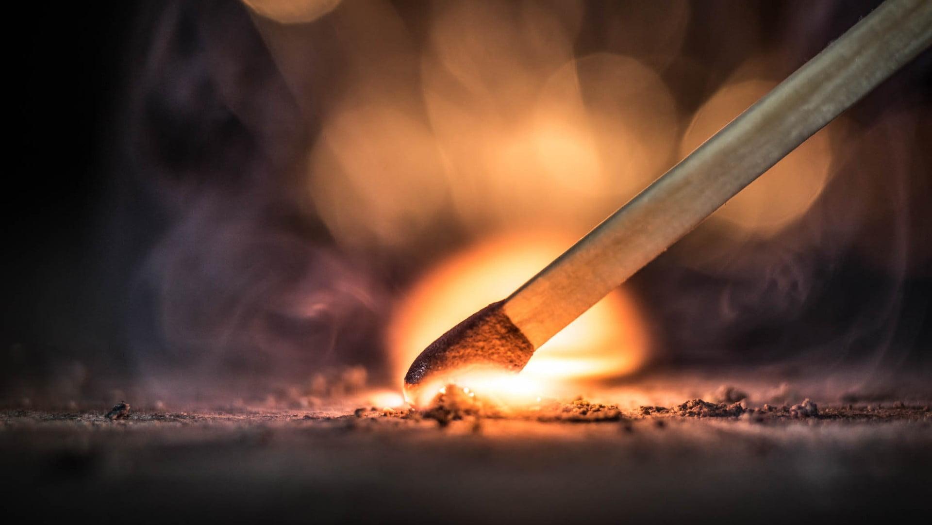 brown matchstick fire matches