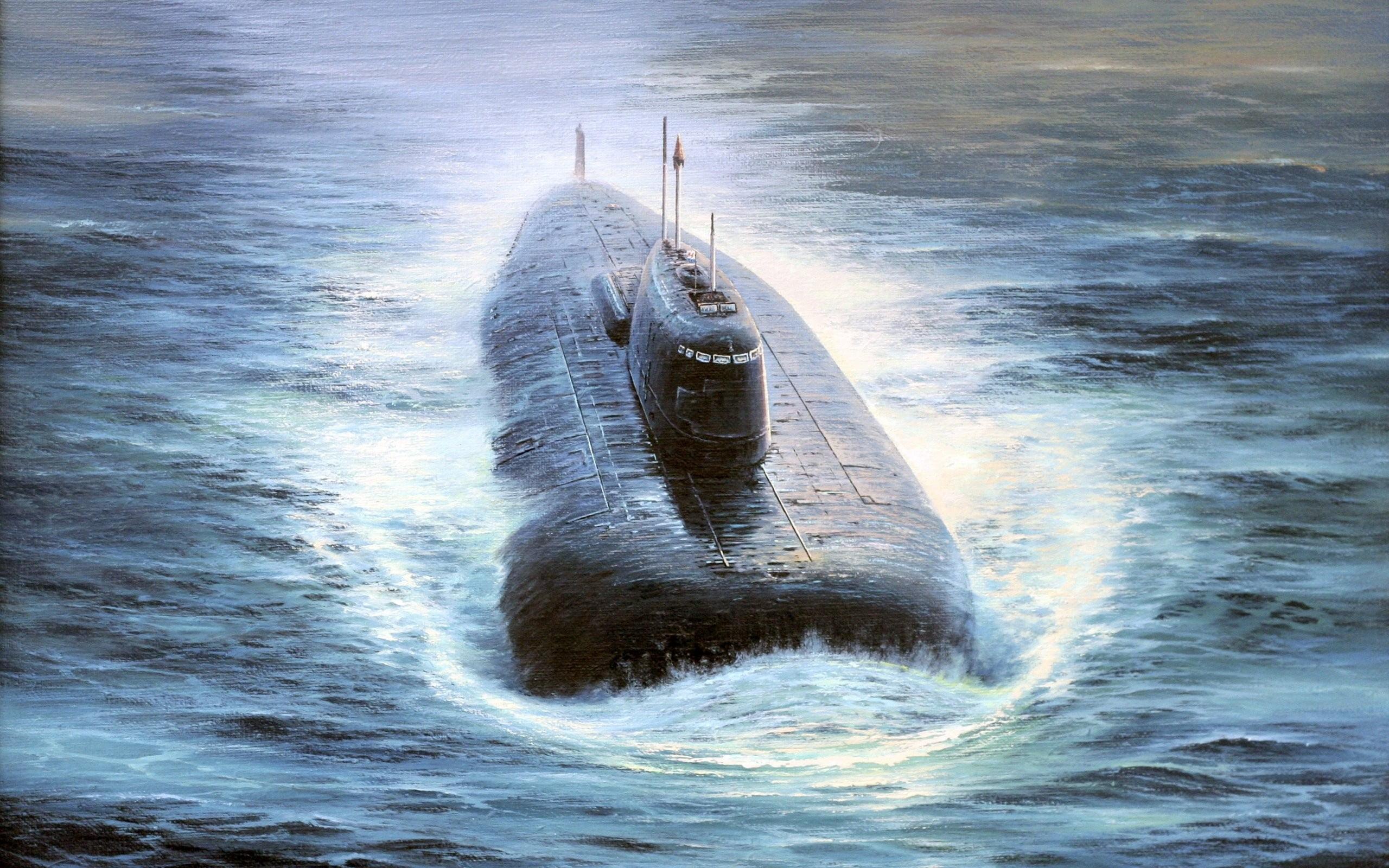 white and black wolf painting, kursk, submarine, vehicle