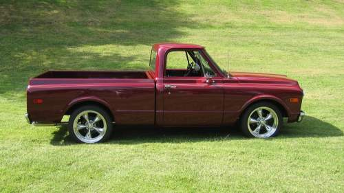 small resolution of red single cab pickup truck muscle cars chevy chevrolet c k