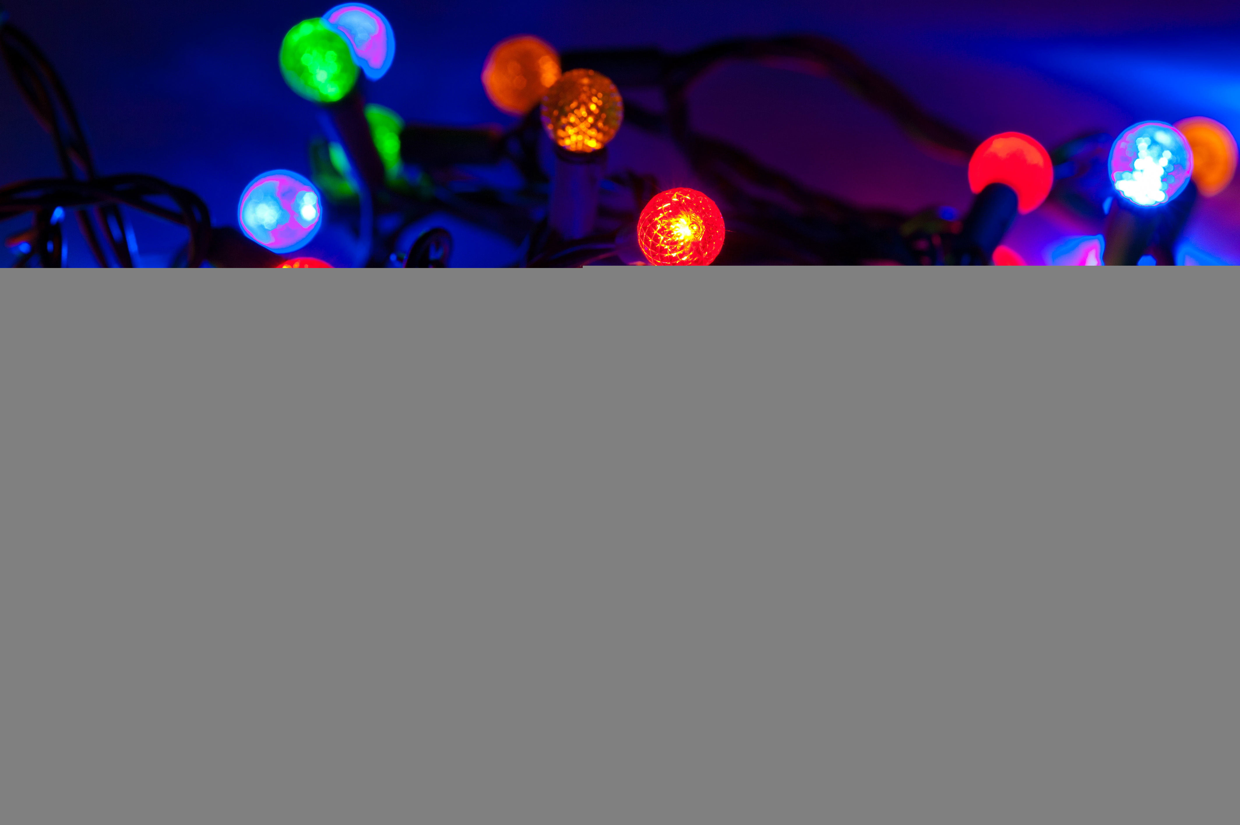 multi colored string lights