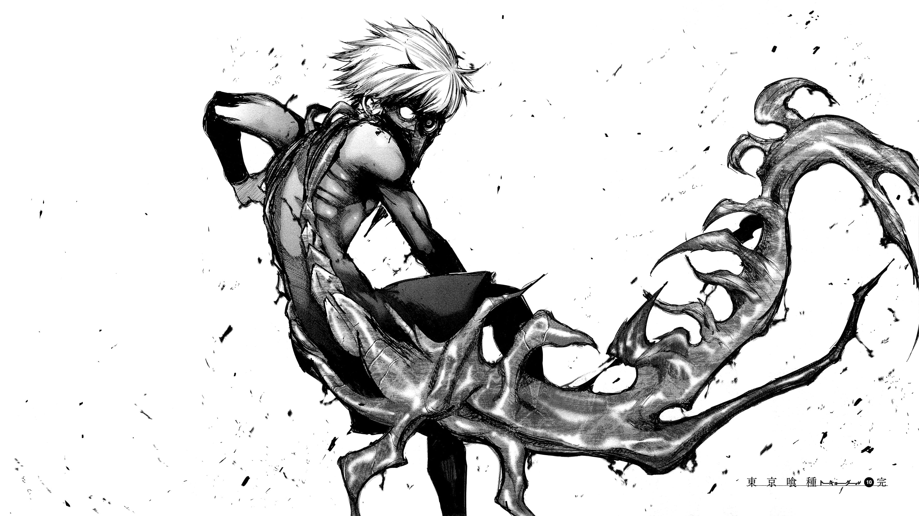 Kaneki Ken Illustration Manga Monochrome Kaneki Ken