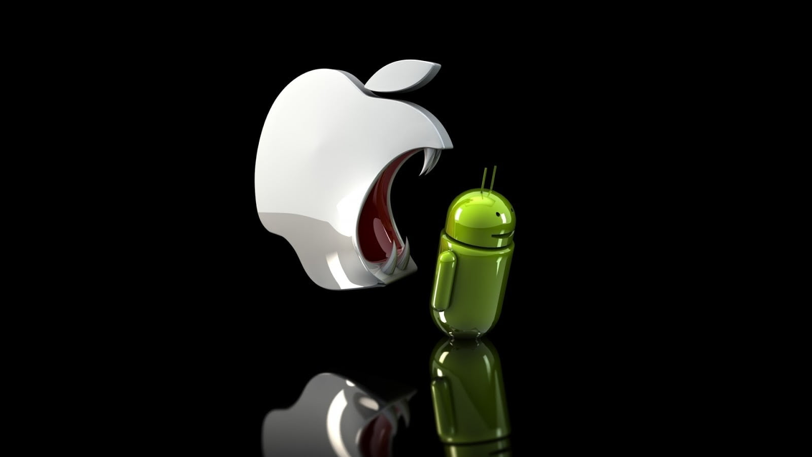 android and apple logo