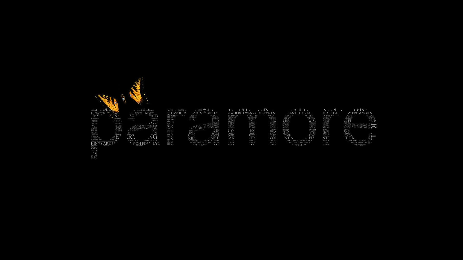 paramore text overlay with