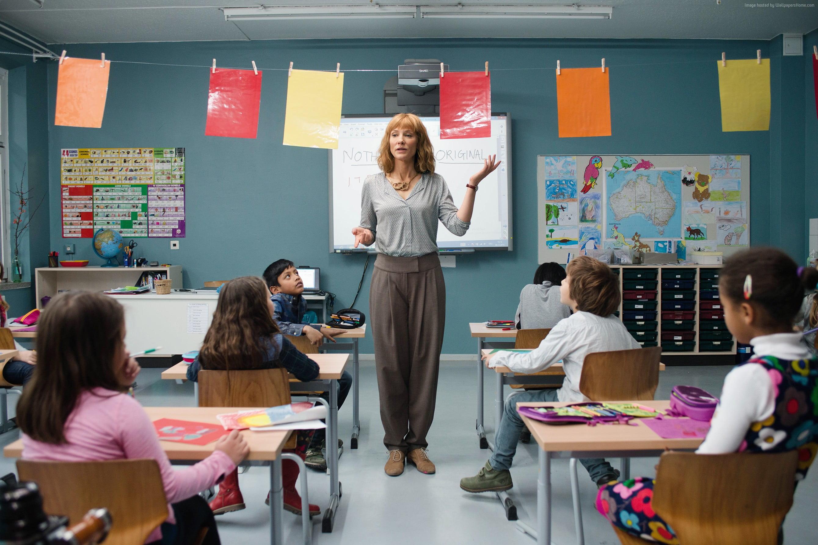 1080p Iphone 7 Plus Wallpaper Teacher Teaching Children Inside Classroom During Daytime