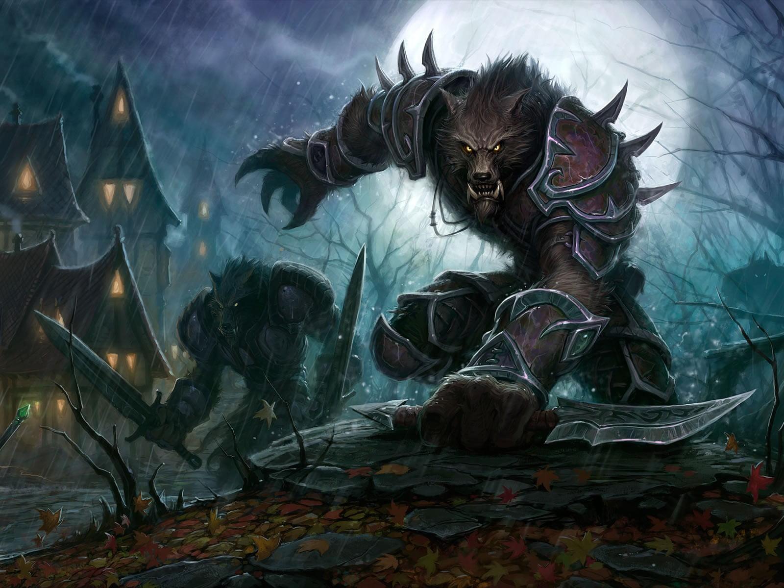 werewolf anime illustration werewolves