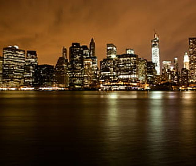 Lighted Cityscape During Nighttime Manhatten