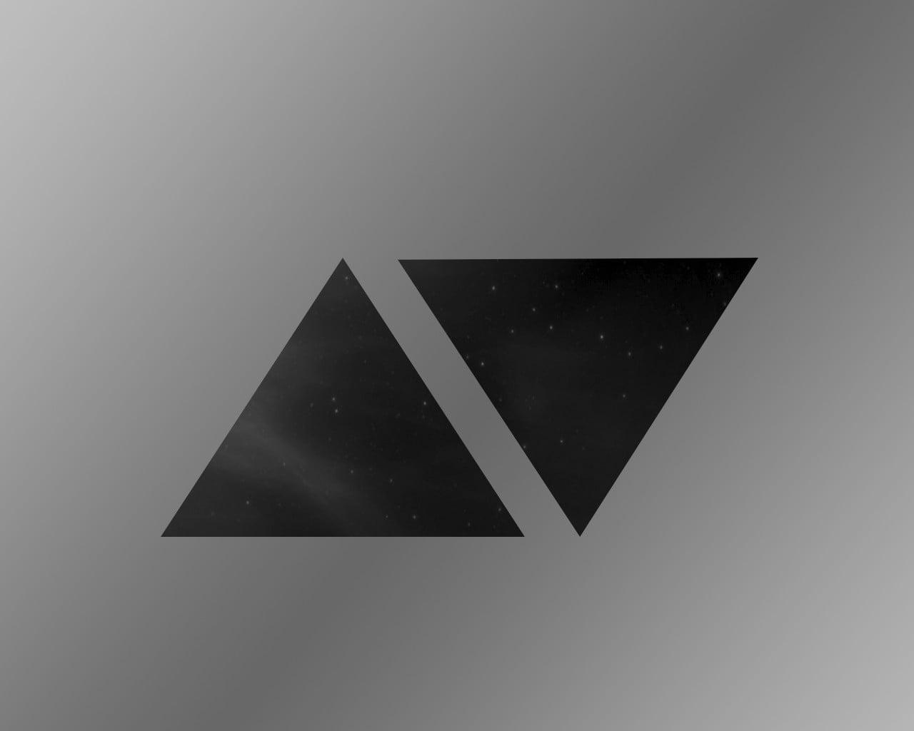 avicii logo triangle dark