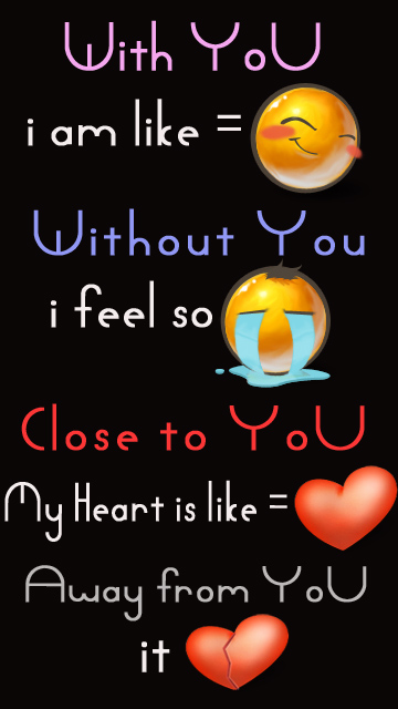 Cute Girl And Boy Animated Wallpaper Download With And Without You Heart Touching Love Quote