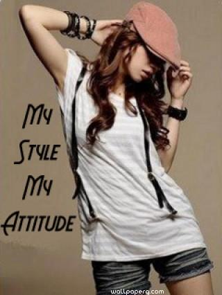 Cute Baby Wallpapers For Whatsapp Download My Style My Attitude Girl Attitude Girl Profile