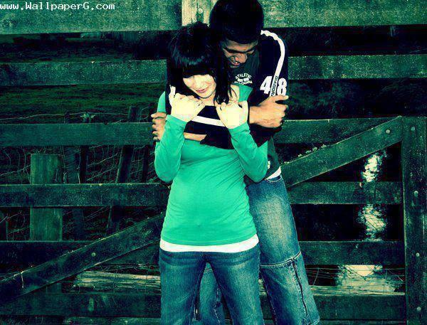 Cute Boy And Girl Love Animated Wallpapers Download A Sweet Hug From Back Hug Day For Your Mobile