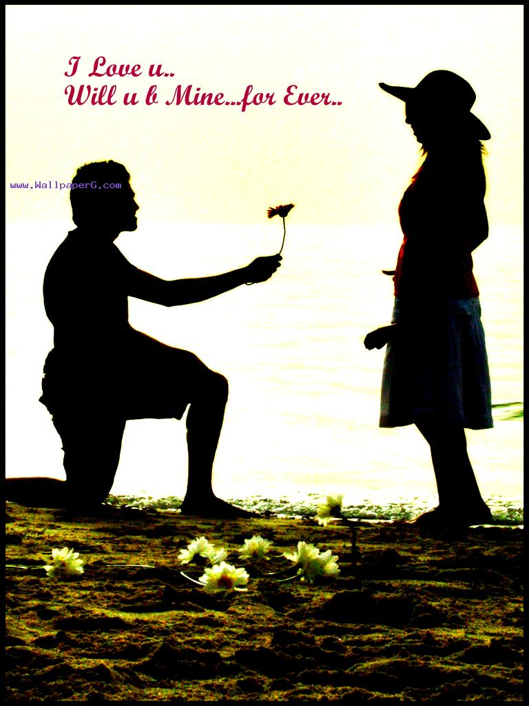 Girl Propose To Boy Wallpaper With Quotes Download Will You Be Mine Forever Romantic Wallpapers