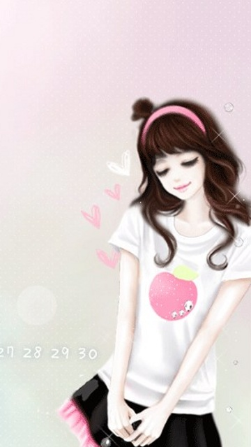 Attitude Girl Hd Wallpaper Free Download Download Lovely Pink Girl Collection Of Cartoon Pic For