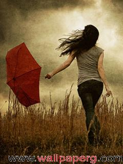Cute Girl Wallpaper With Attitude Quotes Download Lonely Girl With Umbrella Girls With Emotions