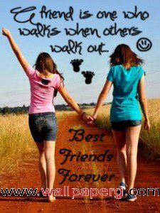 Cute Animated Wallpapers For Cell Phones Download Girl Friend Best Friend Forever Saying Quote