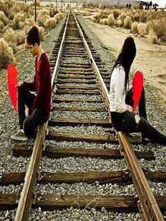Free Download Cute Love Wallpapers For Mobile Download Sad Boy And Girl On Railway Line Romantic