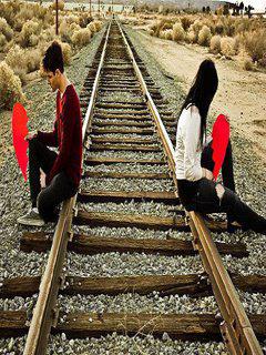 Cute Stylish Girl Wallpaper Hd Download Sad Boy And Girl On Railway Line Romantic
