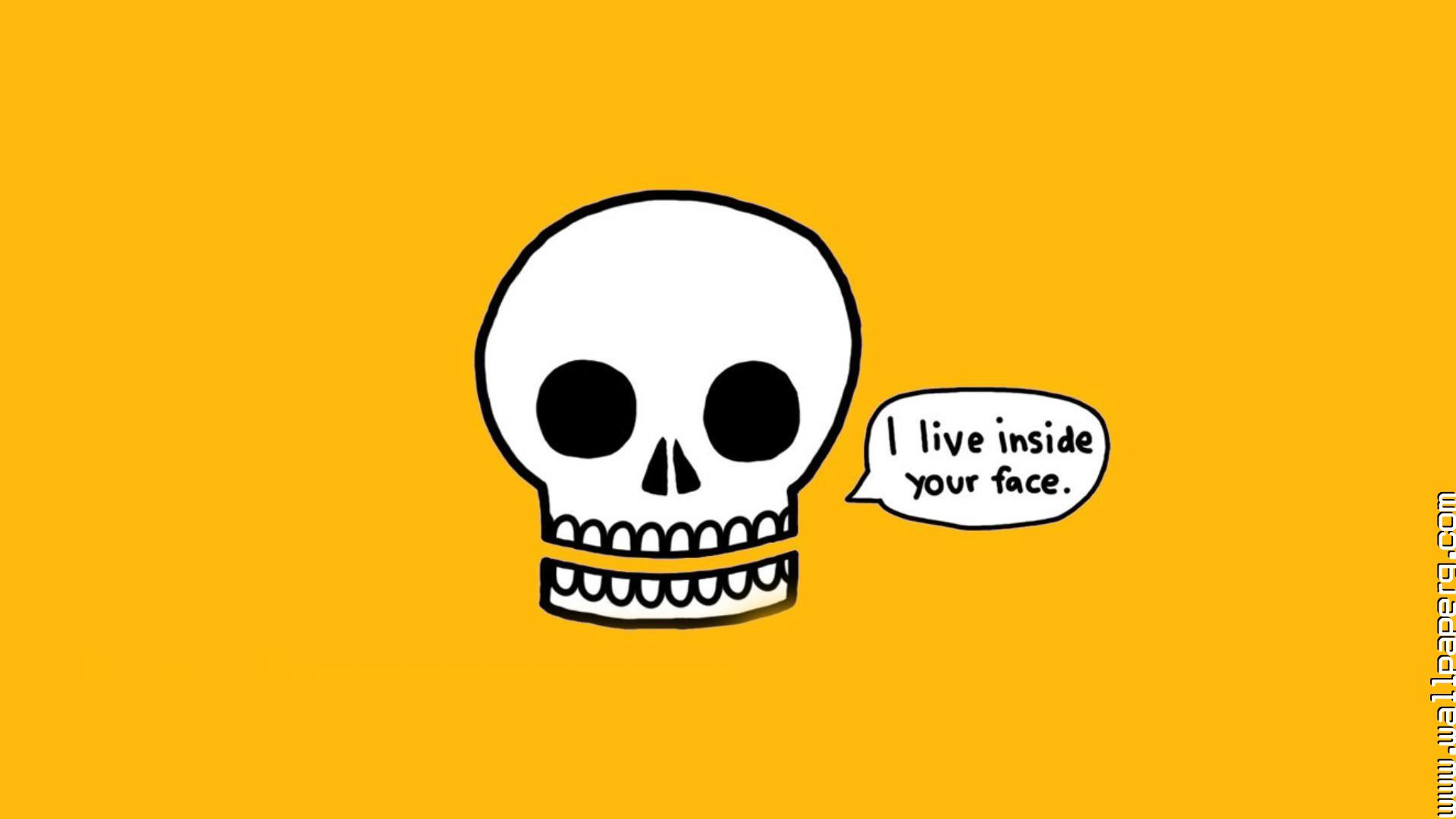 Cute Baby Girl Wallpapers For Whatsapp Download Funny Minimalistic Skulls Text Awesome Wallpaper