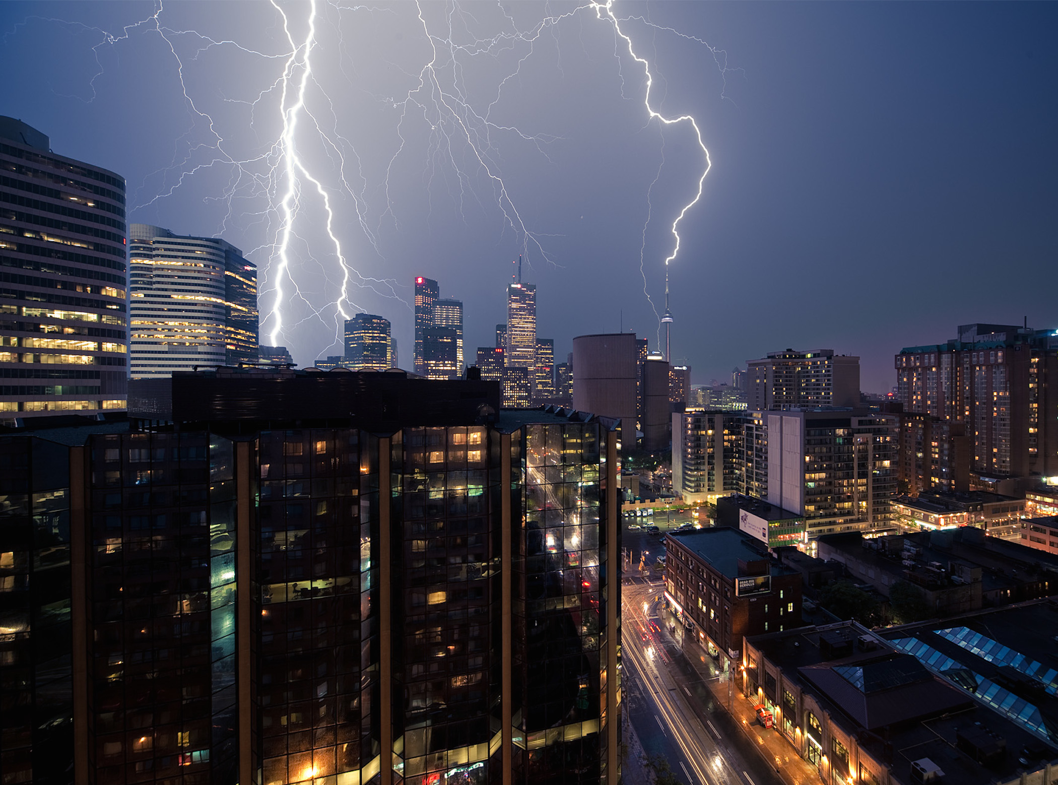 City Lightning Storm Wallpaper Free City Downloads