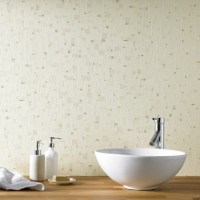 Spa Beige Tile Effect Wallpaper, Mosaic Tile Effect Wallpaper