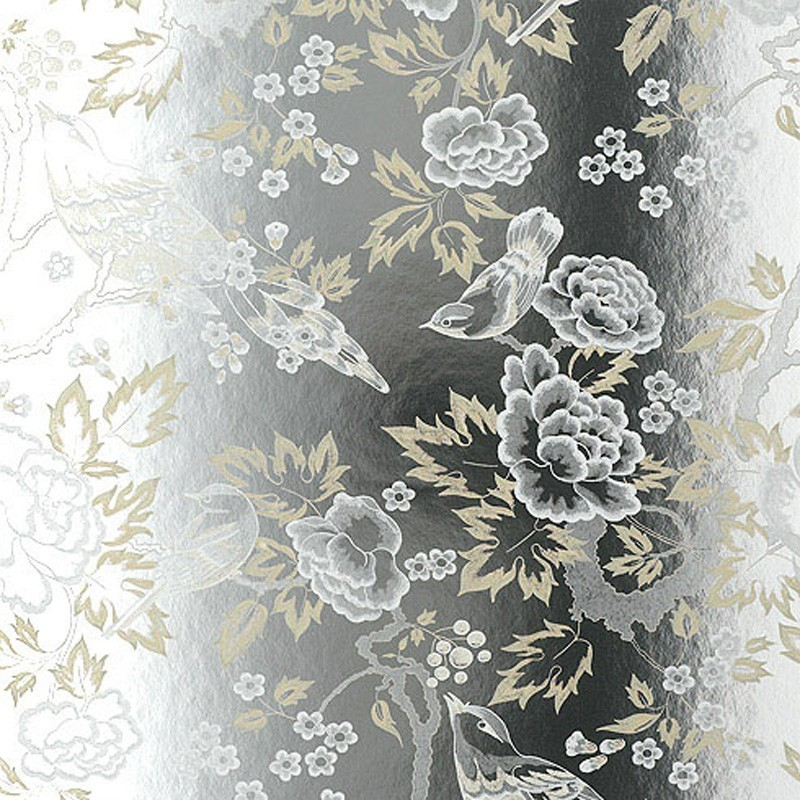 Animal Print Wallpaper Uk Songbirds Cream And Silver Foil At10110 Nw068