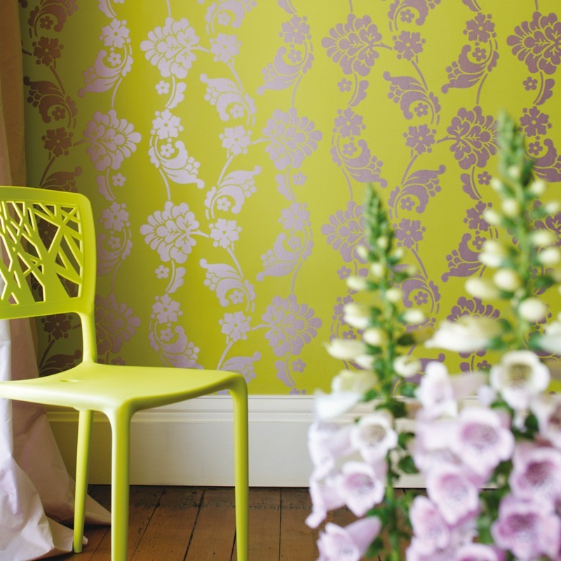 wall stickers living room good colors for velvet jacquard lime green-at10099-wp094
