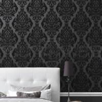 Room With Black Velvet Wallpaper | www.imgkid.com - The ...