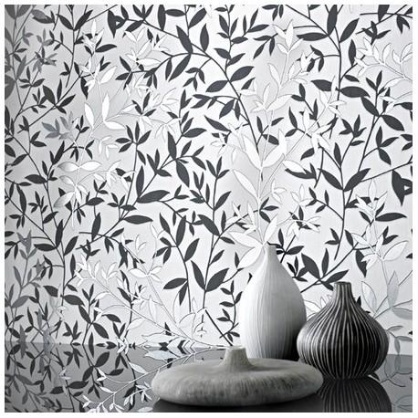 Zendha Black And Grey Wallpaper