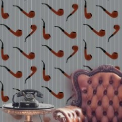 Funky Living Room Wallpaper Slipcovers Armless Chairs Designs Patterns For Homes Wallpaperking Pipe Red On Light Grey