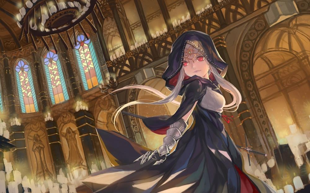 Little Girl Wallpaper 800x1280 Wallpaper Church Princess Anime Girl Hoodie