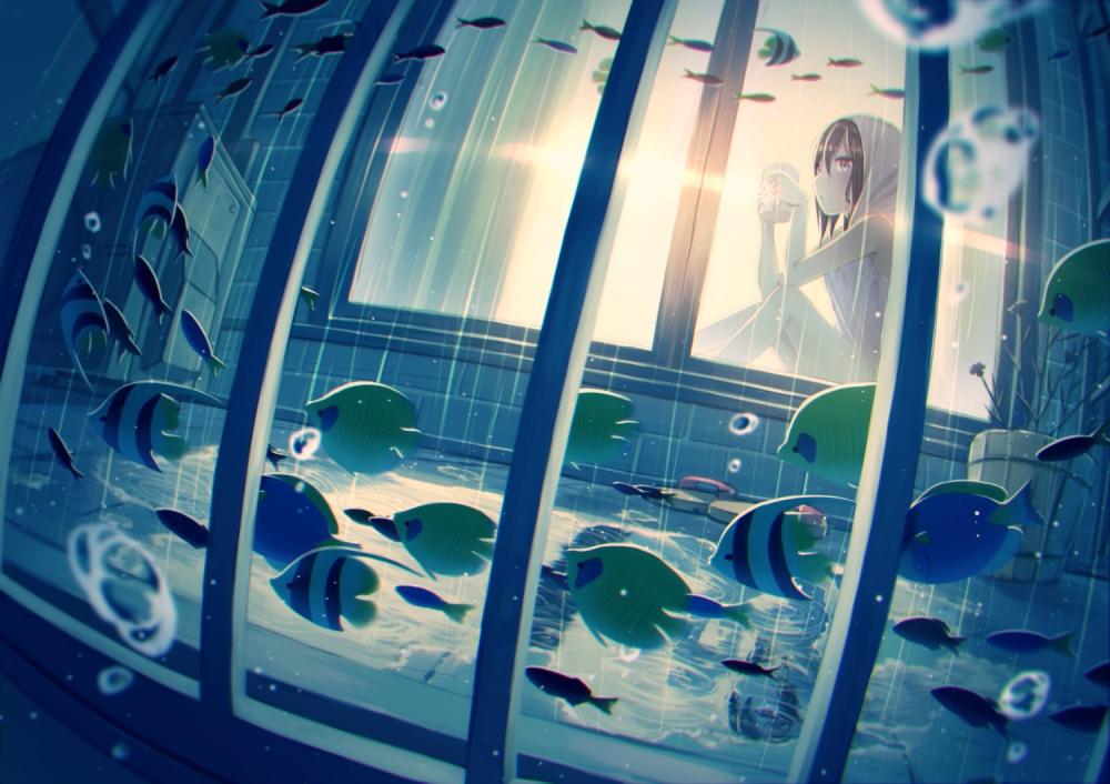 5 Inch Screen Hd Wallpapers Wallpaper Anime Girl Hoodie Aquarium Fish Wallpapermaiden