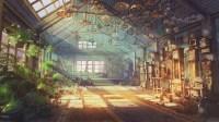 Download 2000x1125 Anime Landscape, Anime Garden, Sunshine