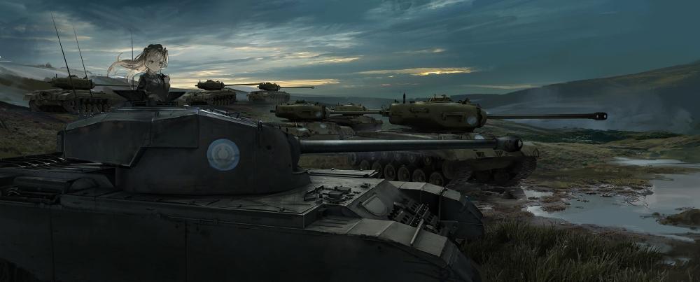 Girls Und Panzer Hd Wallpaper Wallpaper Girls Und Panzer Battlefield Tanks