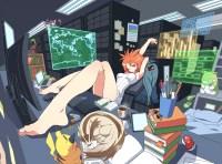 Wallpaper Anime Girl, Office Landscape, Pikachu, Foots ...