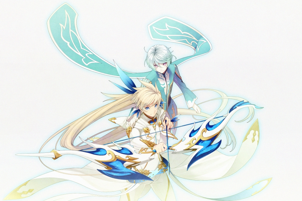 Cute Bow Wallpaper For Iphone Wallpaper Tales Of Zestria Sorey Mikleo Arrow Bow