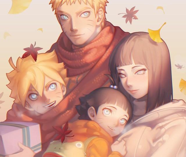Naruto Uzumaki Family Naruto X Hinata Boruto Himawari Hyuuga Hinata