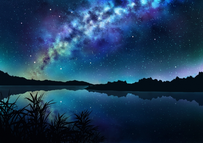 How To Set Up Animated Wallpaper Iphone X Download 1680x1050 Anime Landscape River Night Stars