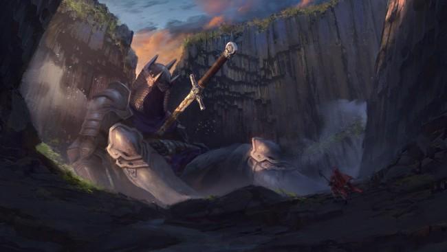 God Of War 4 Wallpaper Iphone X Wallpaper Knight Fantasy World Giant Sword Magician
