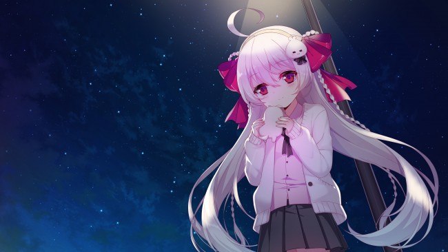 Cute Girly Wallpapers For Iphone 5c Wallpaper Anime Girl Loli Pink Hair Sky Night Long