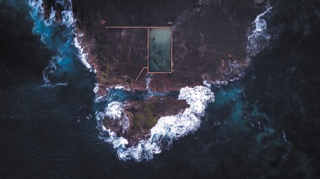 Ocean Waves Iphone Wallpaper Wallpaper Aerial View Coast Waves Ocean Drone