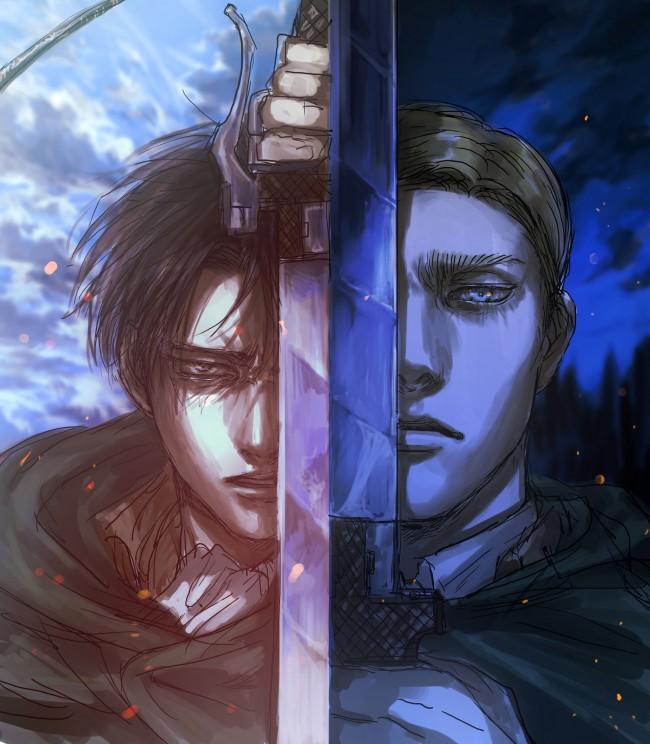 Ipad, ipad 2, ipad mini: Wallpaper Shingeki No Kyojin, Levi, Erwin Smith, Sword ...
