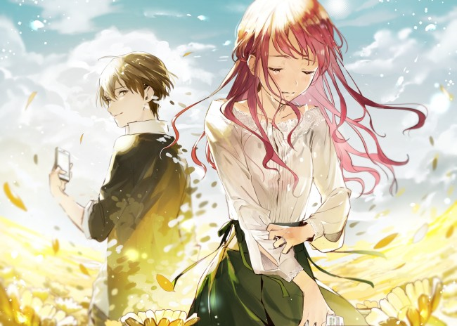 Cute Couple Holding Hands Wallpapers Wallpaper Anime Girl Crying Tears Pink Hair Anime Boy